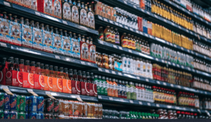 Soda for sale in store