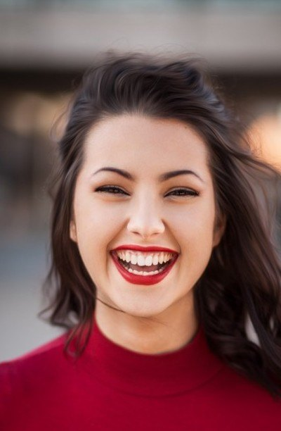Happy smiling women with nice teeth