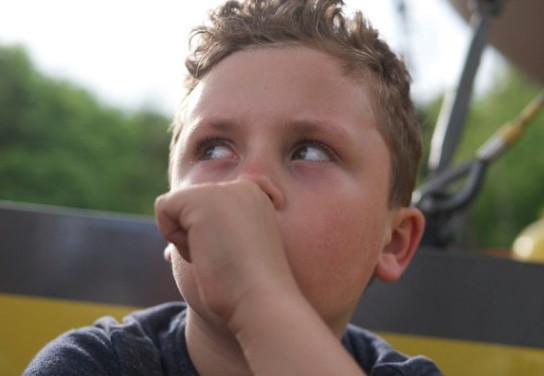Boy sucking thumb